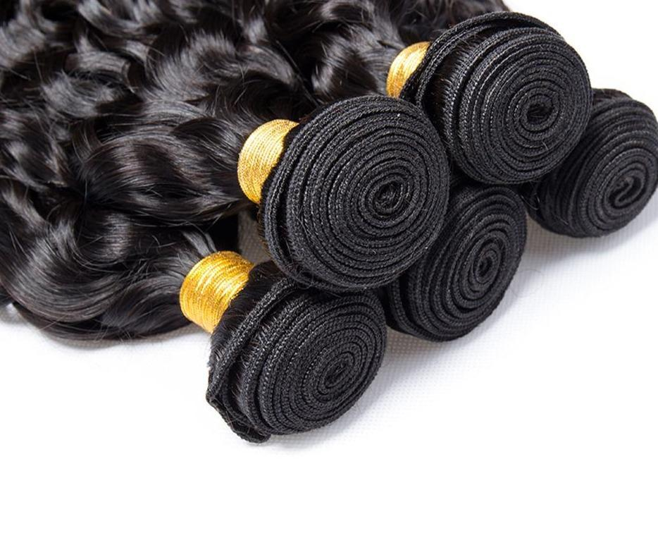 BeuMax Hairs Water Curl 10A Grade Brazilian Jerry curl Bundles with