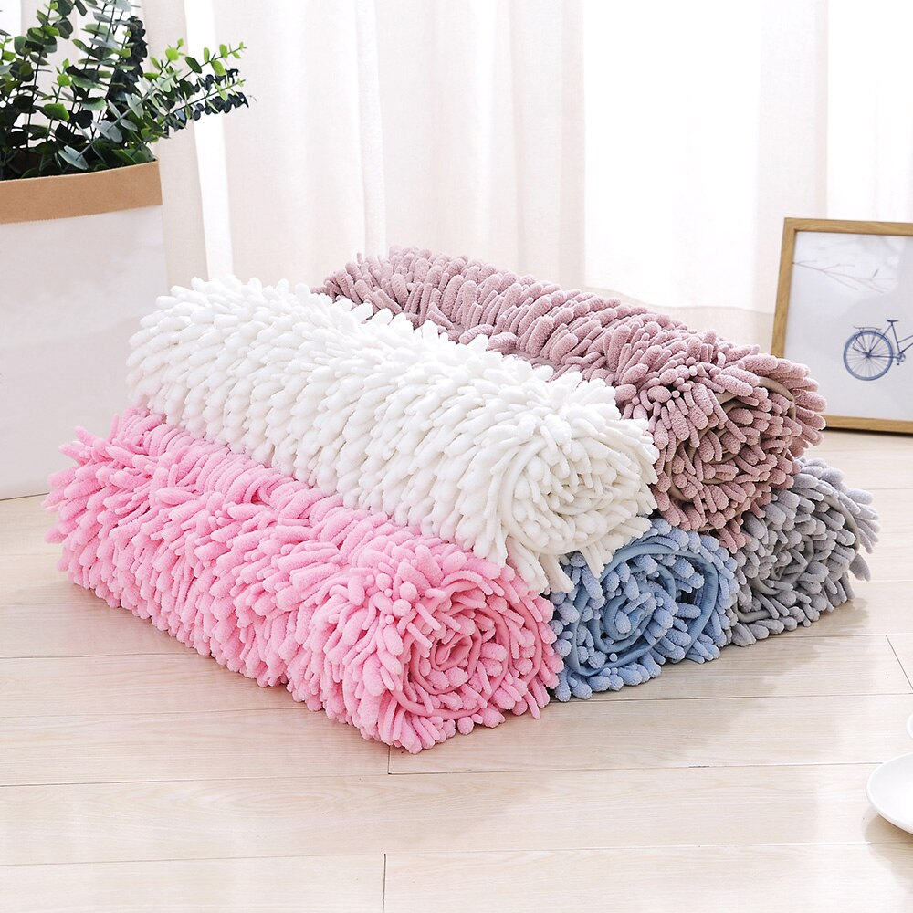 50*80CM Indoor Bathroom Mat Chenille Floor Mat