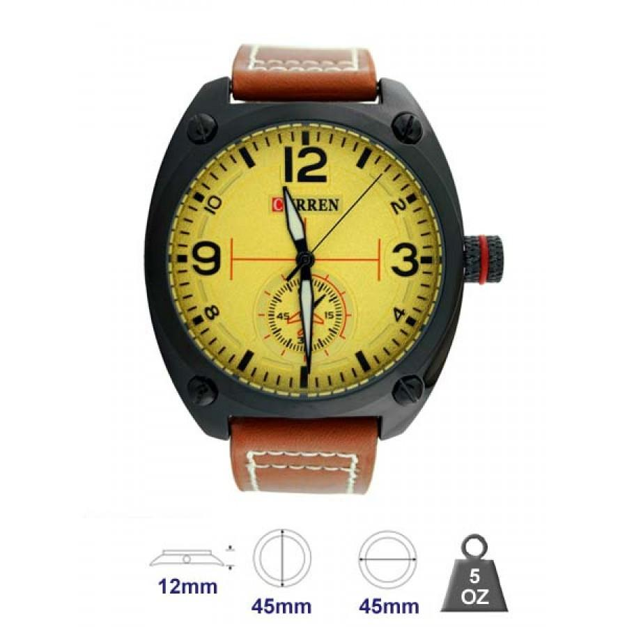 Waterproof watch leather band for Men