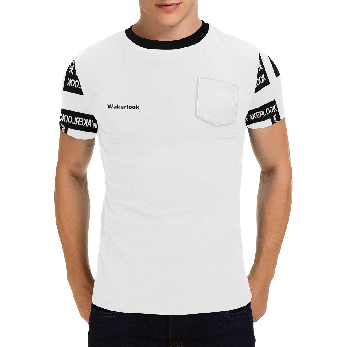 Wakerlook Design Fashion  Men's All Over Print Patch Pocket T-Shirt
