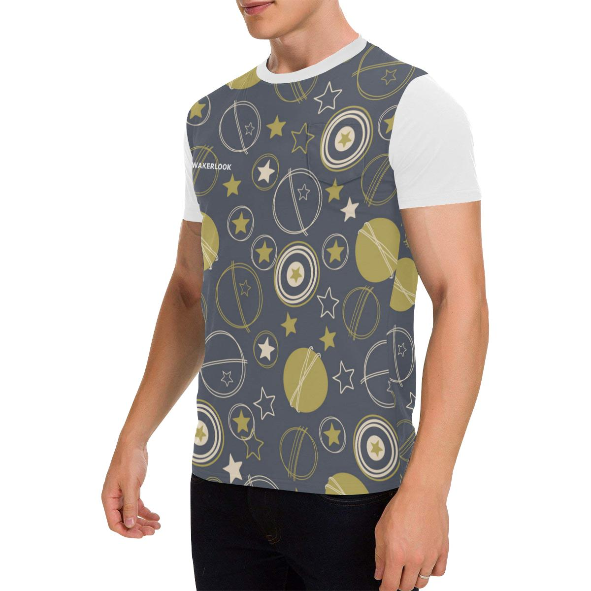 Stars earth moon Men's Patch Pocket T-Shirt