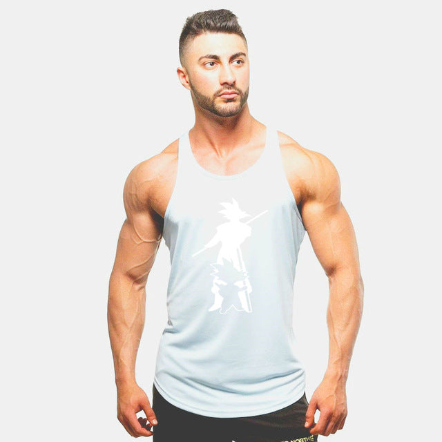 Men Bodybuilding singlet Gym Sleeveless