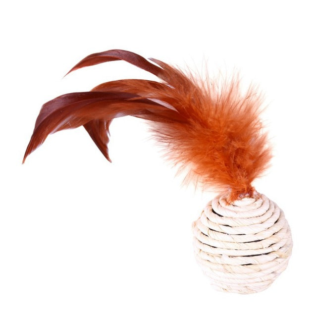 Cat Interactive Toys Set Bell Feather Funny Cat