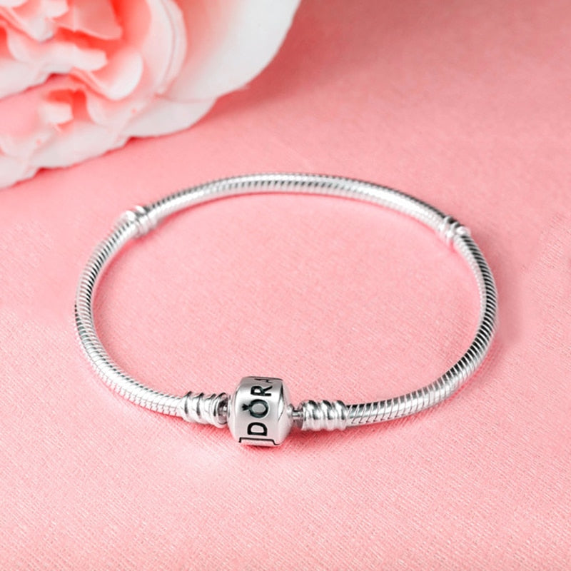 Charms Bracelet Fit Pandora Women Pulseras Beads for Jewelry Making DIY Base Snake Chain Bangle Gift