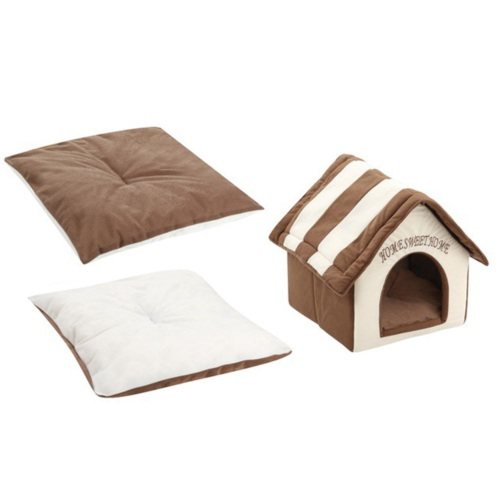Dog House Portable Indoor Pet Bed Soft Warm and