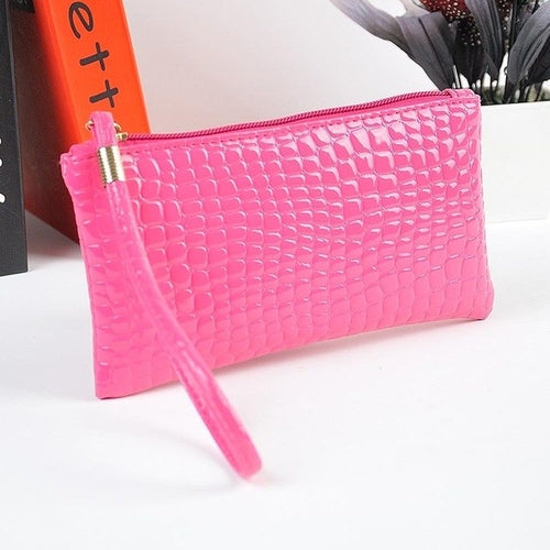 Fahion Handbag Womens Crocodile PU Leather Clutch