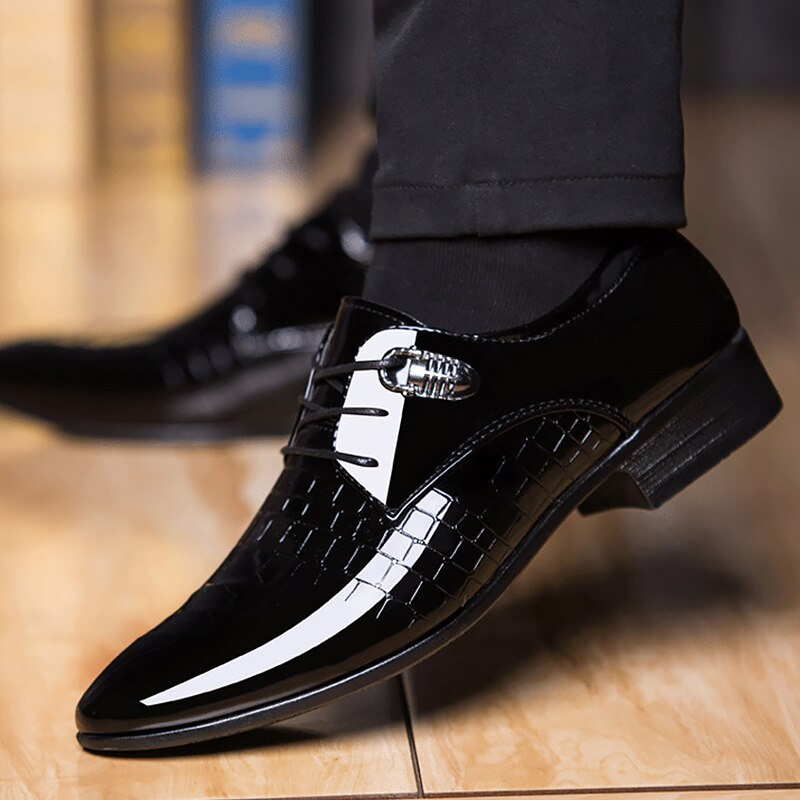 Men Solid Comfortable Office Shoe