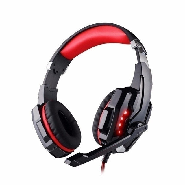 Gaming Headsets Big Headphones with Light Mic