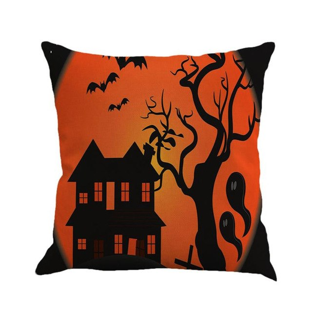 Halloween Cushion Cover Linen Sofa Throw Pillow
