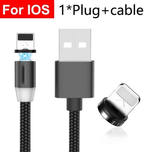 Magnetic charge Cable For iPhone Samsung Android Fast Charging Magnet