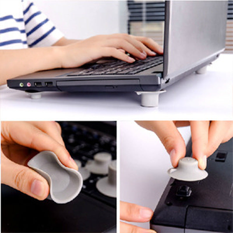 Laptop Heat Reduction Pad Cooling Feet Stand Holder