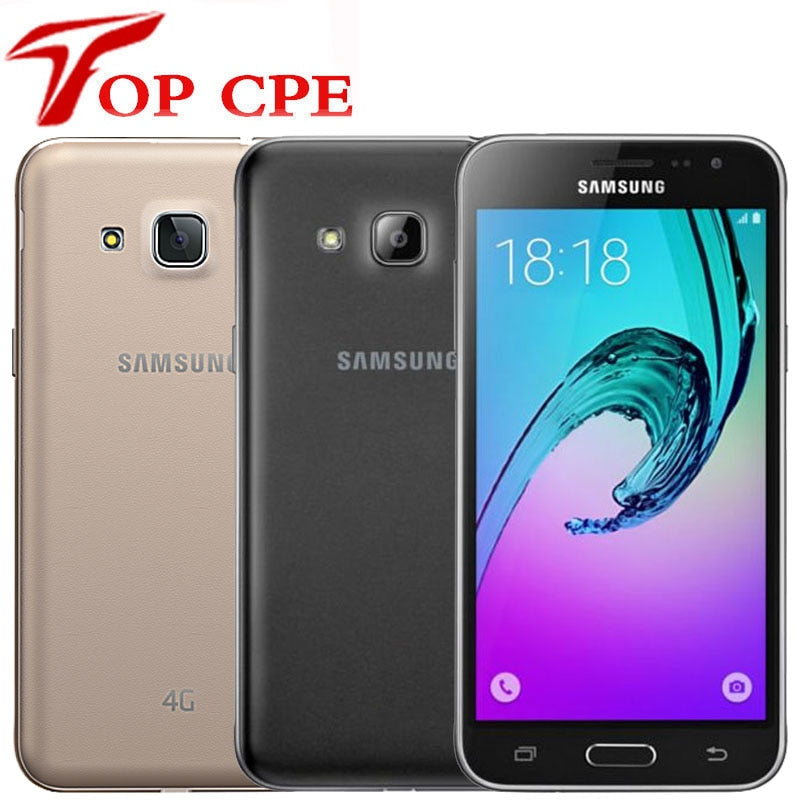 J320 Unlocked Samsung Galaxy J3 (2016) 8GB LTE android original 4G LET GPS Smartphone 8MP WI-FI Quad Core Mobile cell phones