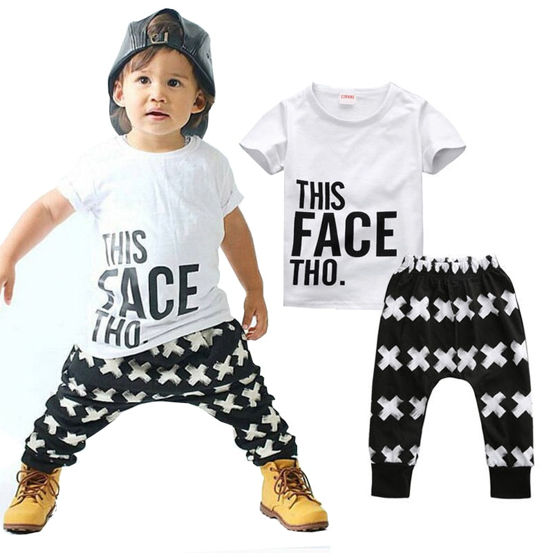 Kid Clothing Sets Toddler Kids Baby boy Summer
