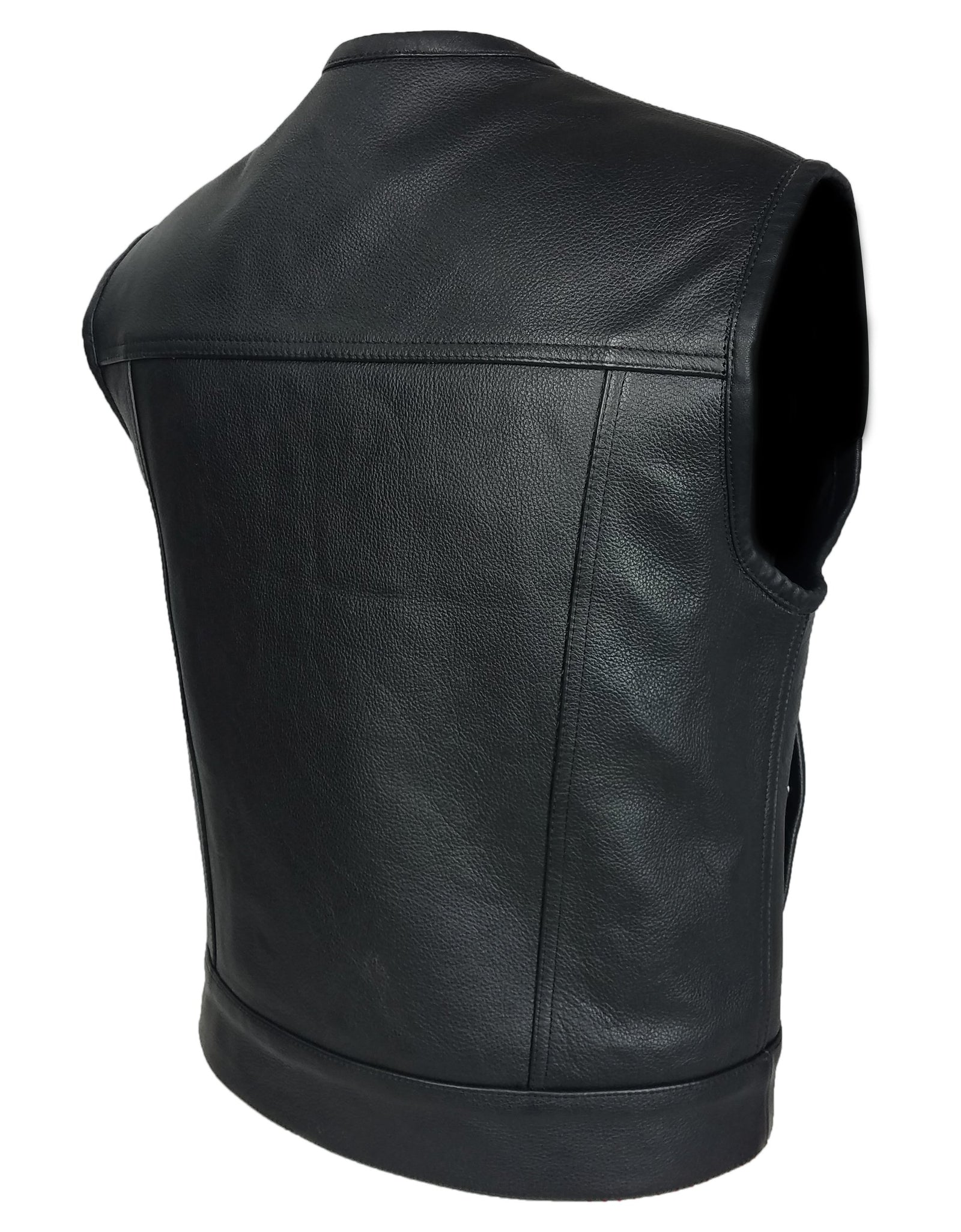 MotoArt Cowhide Leather Vest w/ Concealed Carry