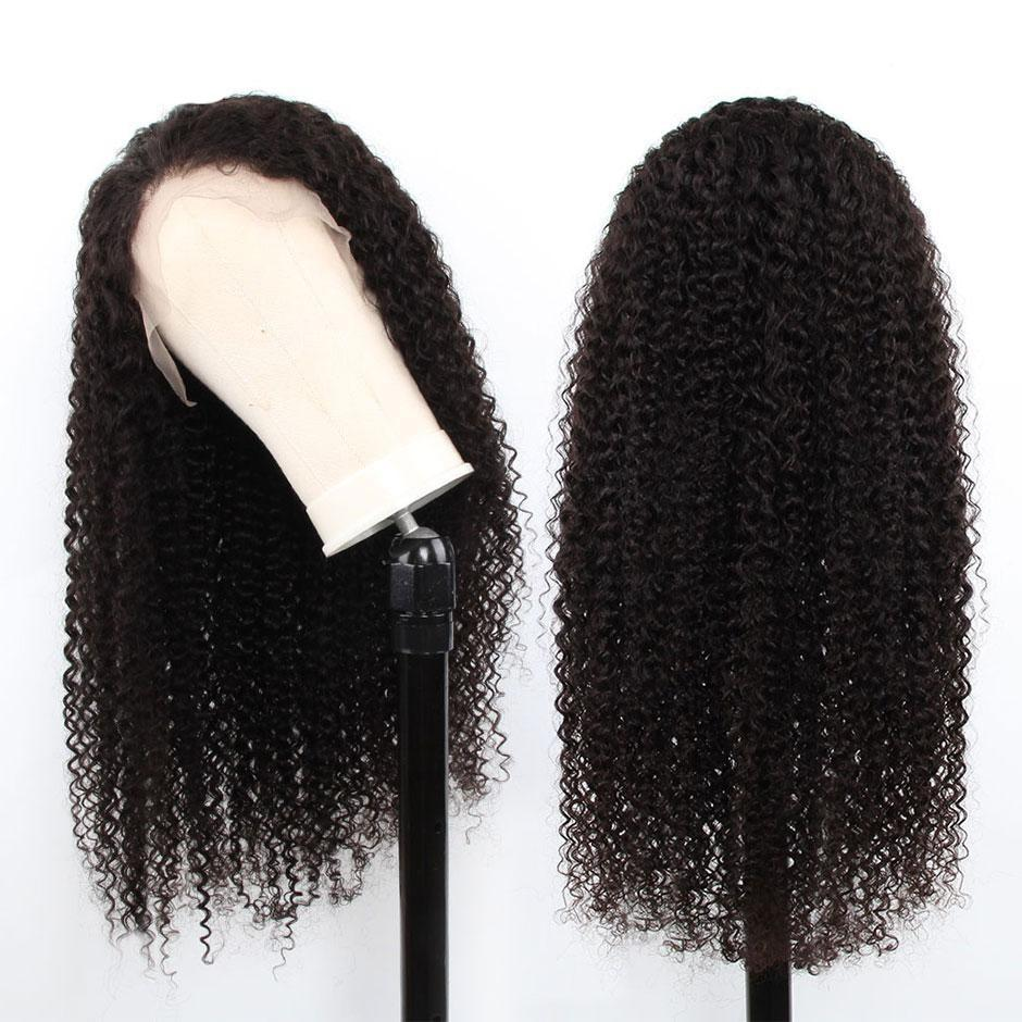 BeuMax Hairs Kinky Curly  Human Hair Wigs with 13x4 Lace Frontal -