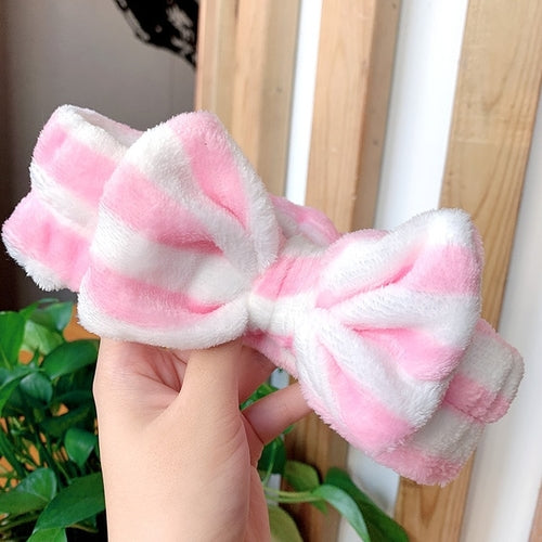 "New Letter""OMG"" Coral Fleece Soft Bow Headbands"