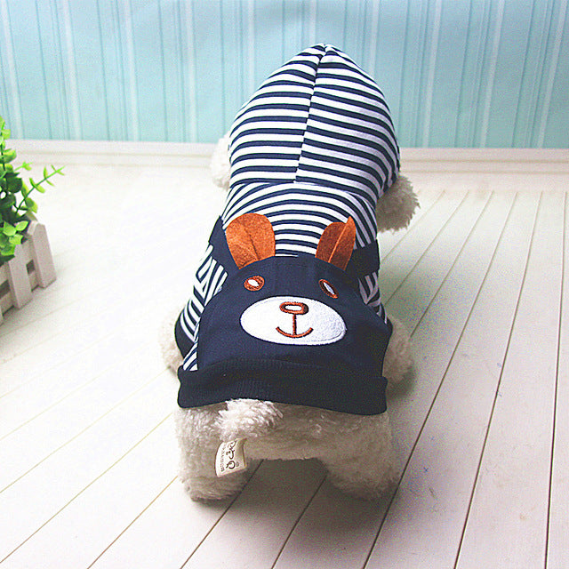 Fashion Striped Pet Dog Clothes for Dogs Coat