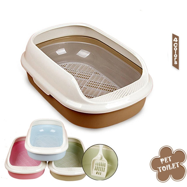 Pet Cat Toilets Litter Box Durable Cats Bedpans