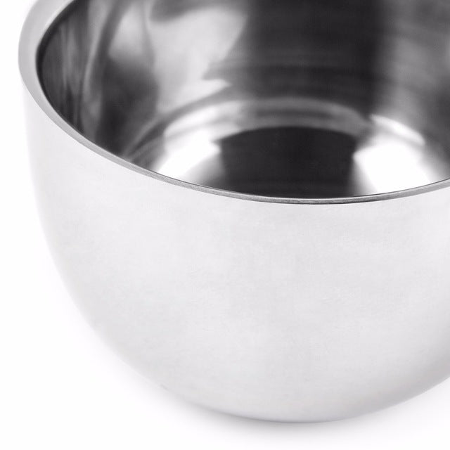 Shaving Soap Bowl Stainless Steel Double