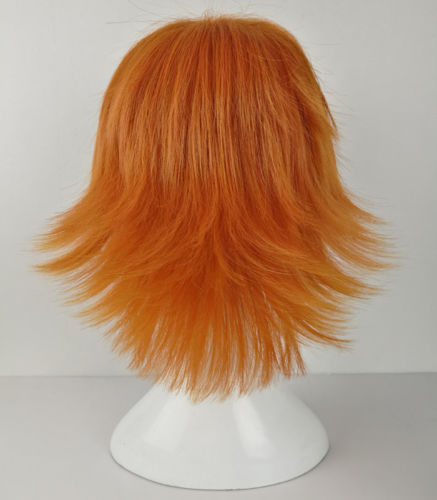 RWBY Nora Valkyrie Wigs Orange Tilt Up Hair