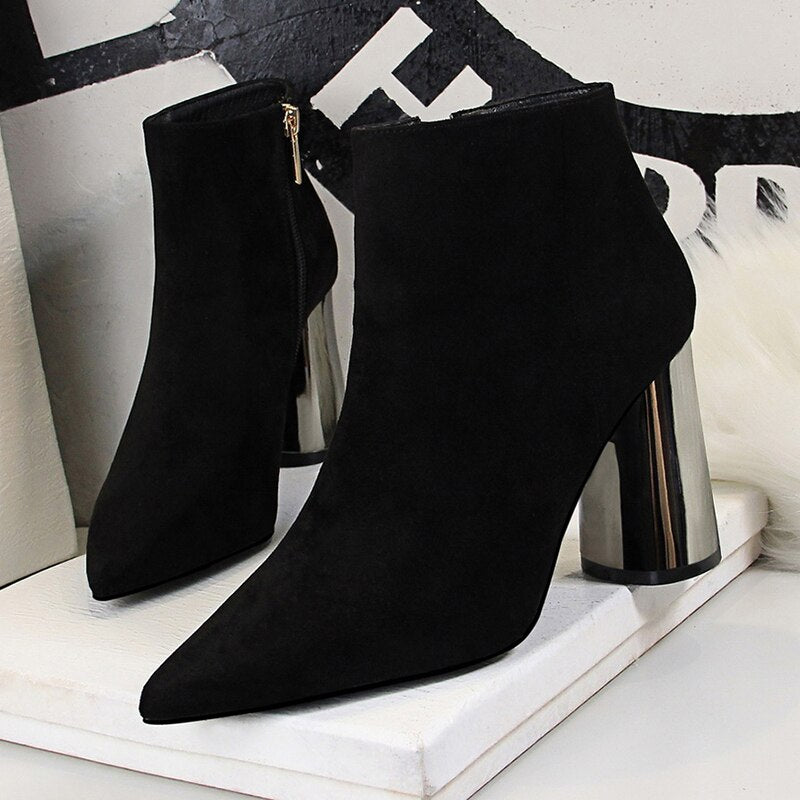Women ankle boots  autumn women shoes high