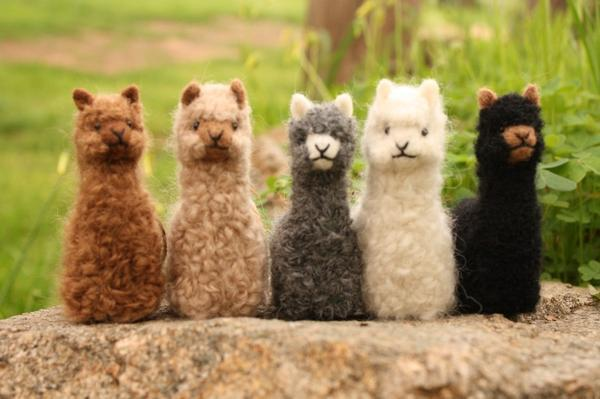 Alpacadorable Hand Made Baby Alpaca Ornaments