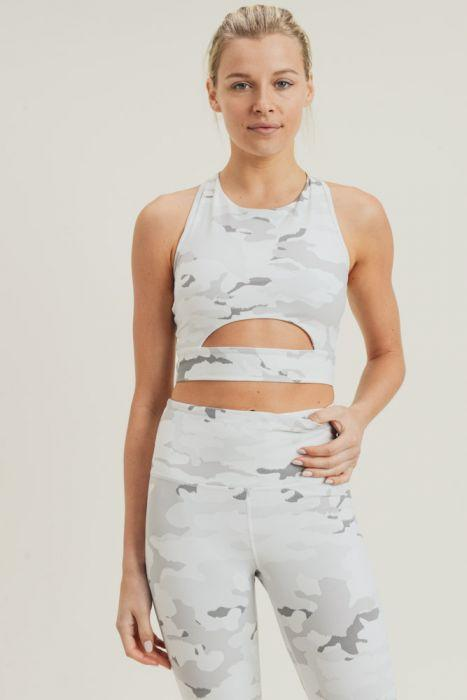 Snow Camo Sport Crop Top