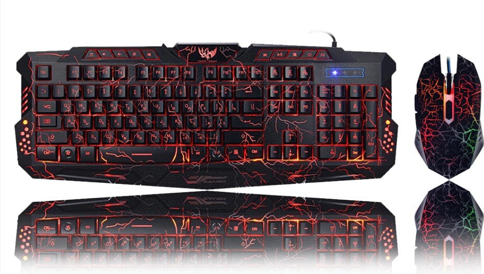 Thunder Fire 2.4G Gaming Keyboard and Mouse Set by Ninja Dragons