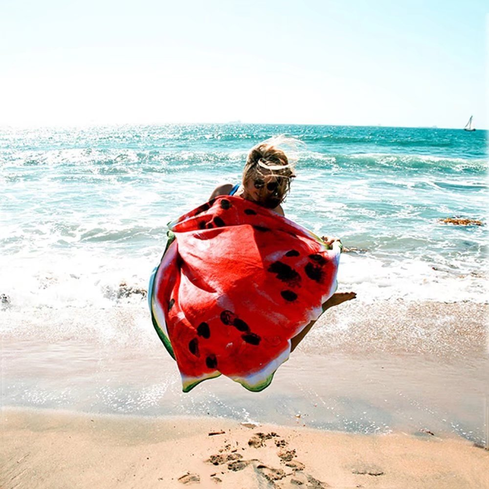 Watermelon Round Beach Throw