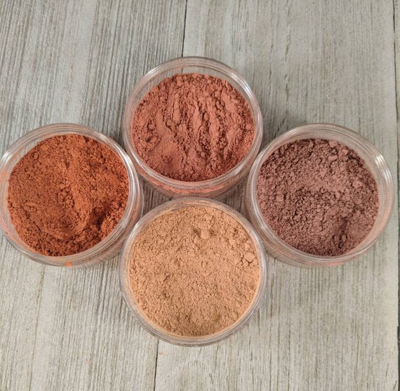 Blush 4 pack - Matte Blush - mineral makeup -