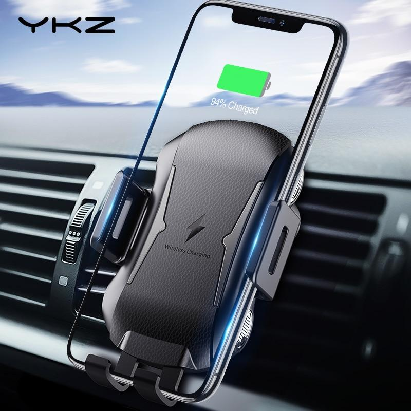 Qi Wireless Car Mount for iPhone XS Max Samsung S10 Fast Wireless