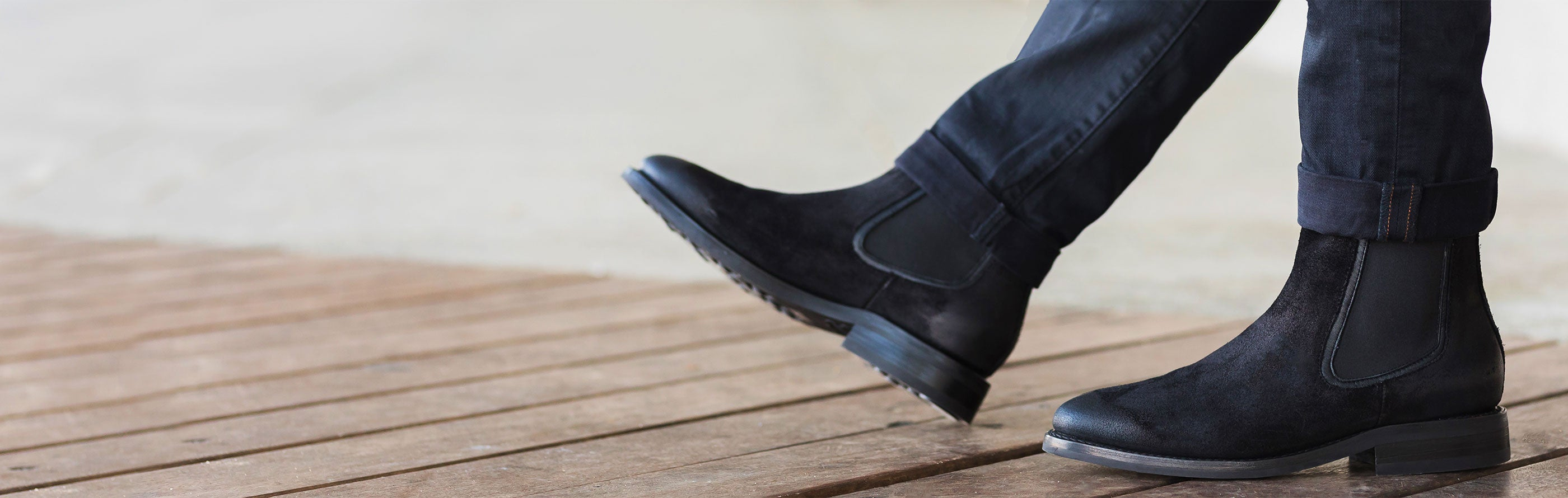 Men's Boots | Black Suede Feature