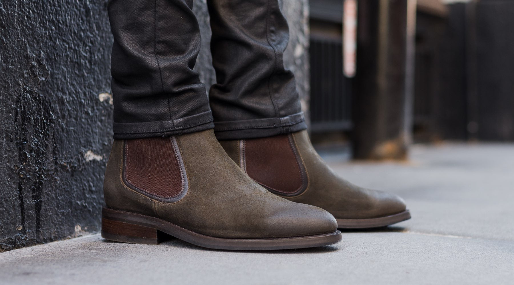 The Best Men's Chelsea Boots: The Dark Olive Suede Duke