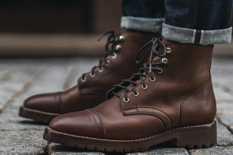 Men's Whiskey Captain Lace-Up Boot