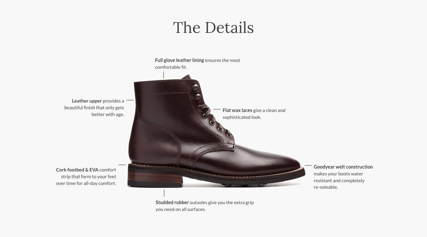 Whether at work, on a date, or in stormy weather, step forward in  confidence with the President Boot.