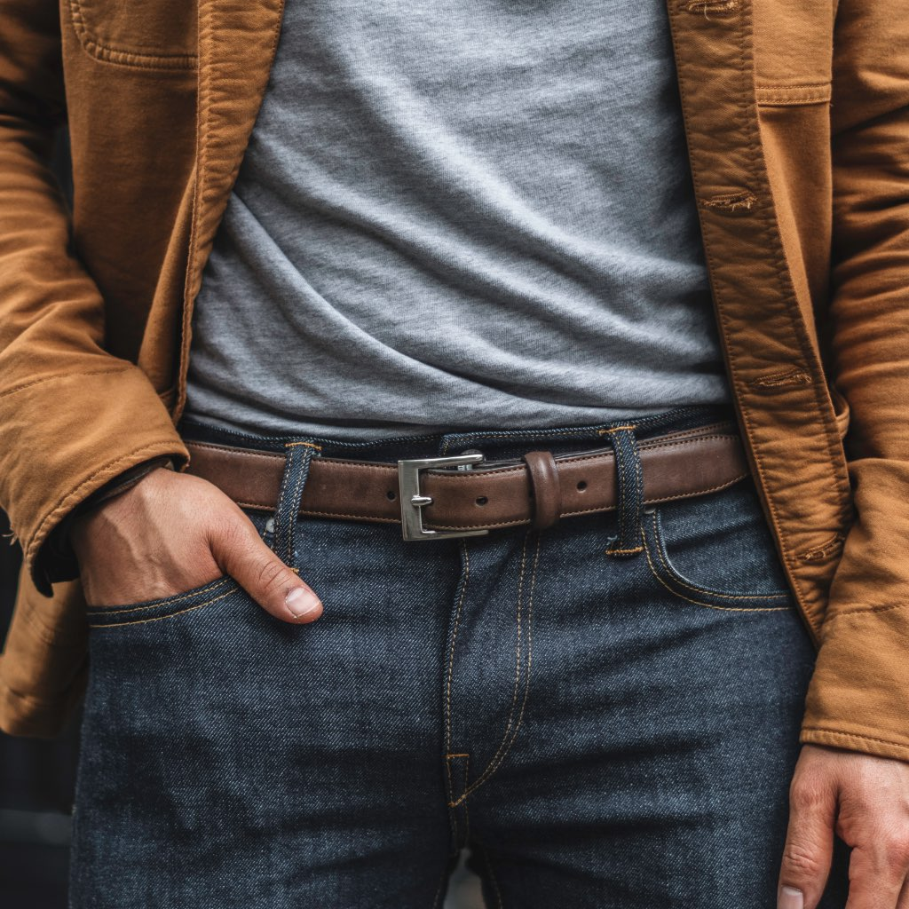 Men's Classic Leather Belt | Old English