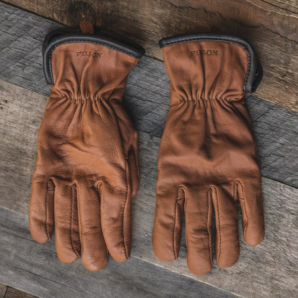Original Lined Goatskin Gloves | Saddle Brown