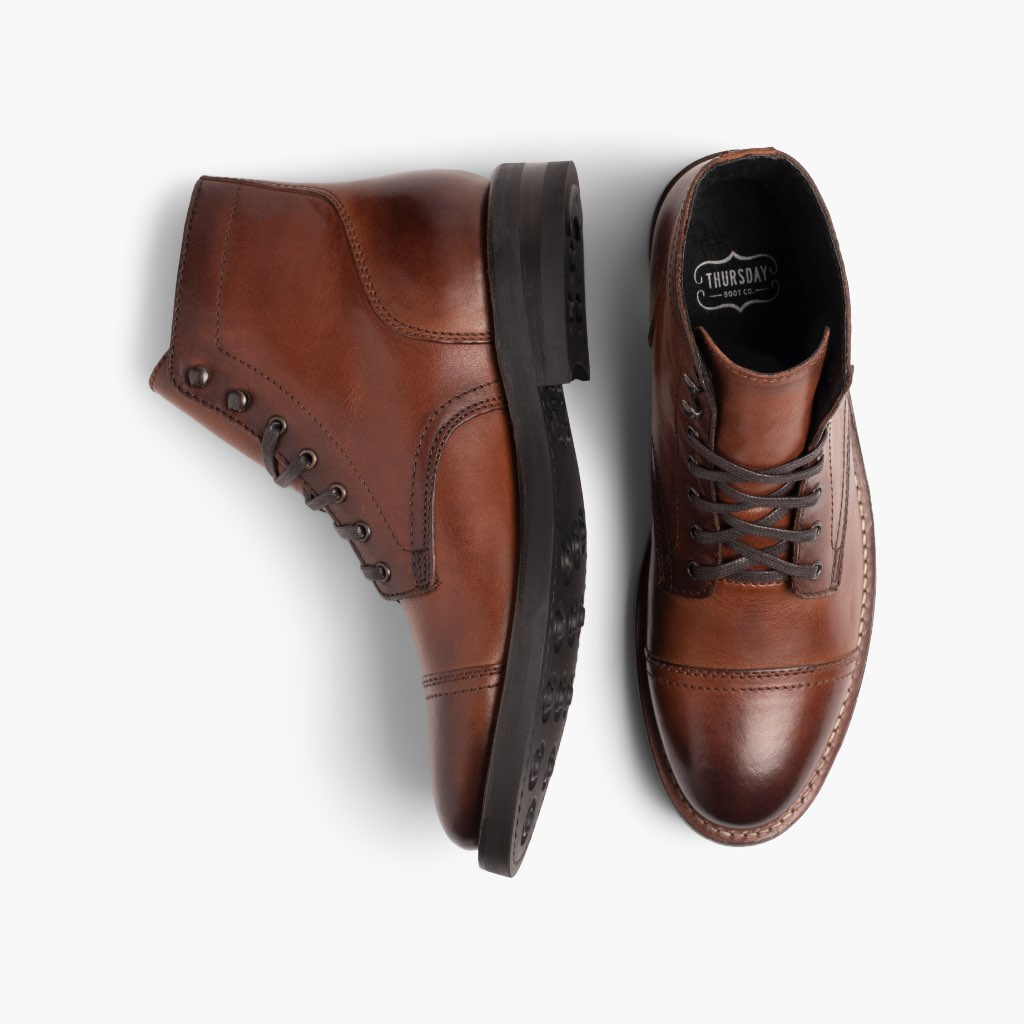 10 M US Brandy Thursday Boot Company Captain Mens Lace-up Boot
