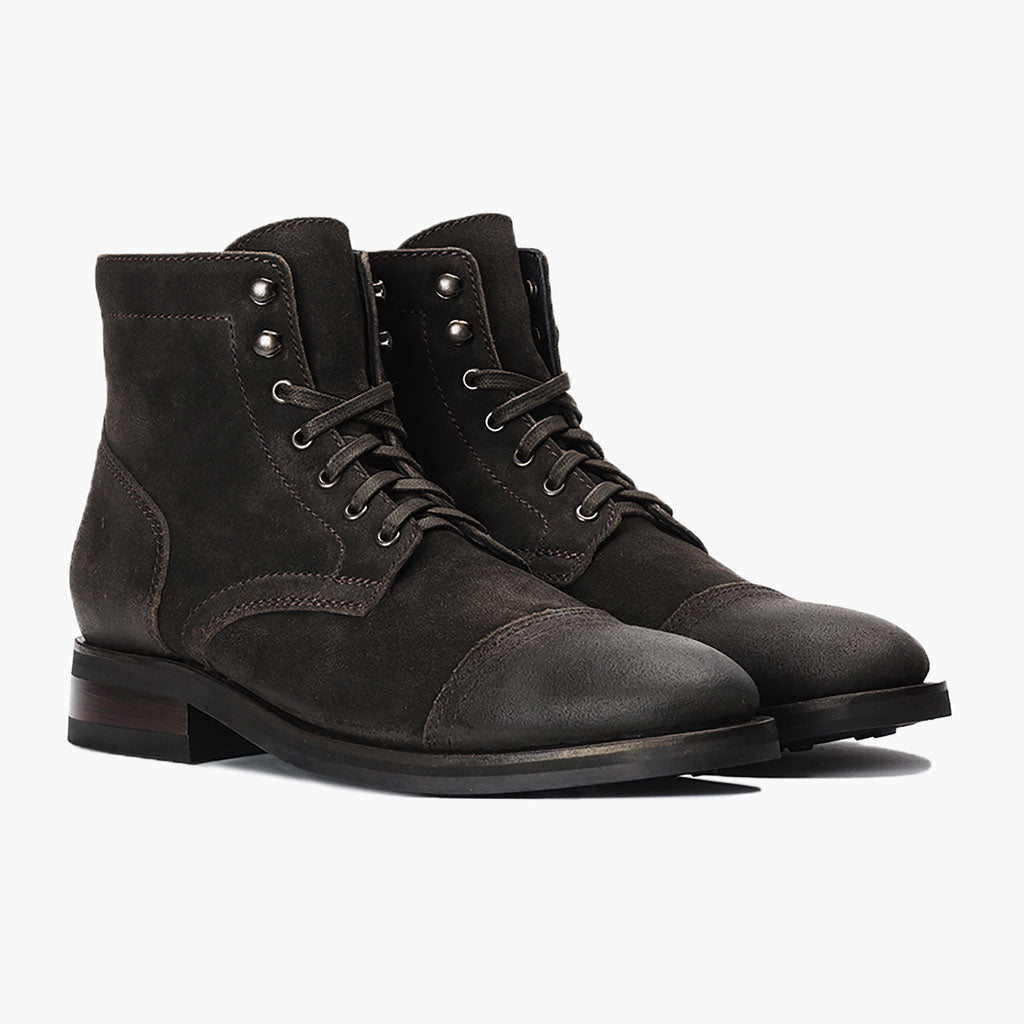 841f29bb2afc1c Men's Dark Olive Suede Captain Lace-Up Boot - Thursday Boot Company