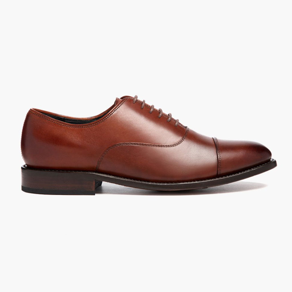 New Mens Dress Shoes Oxfords Cap-Toe Lace Up Leather Lined Wingtip Casual Sizes