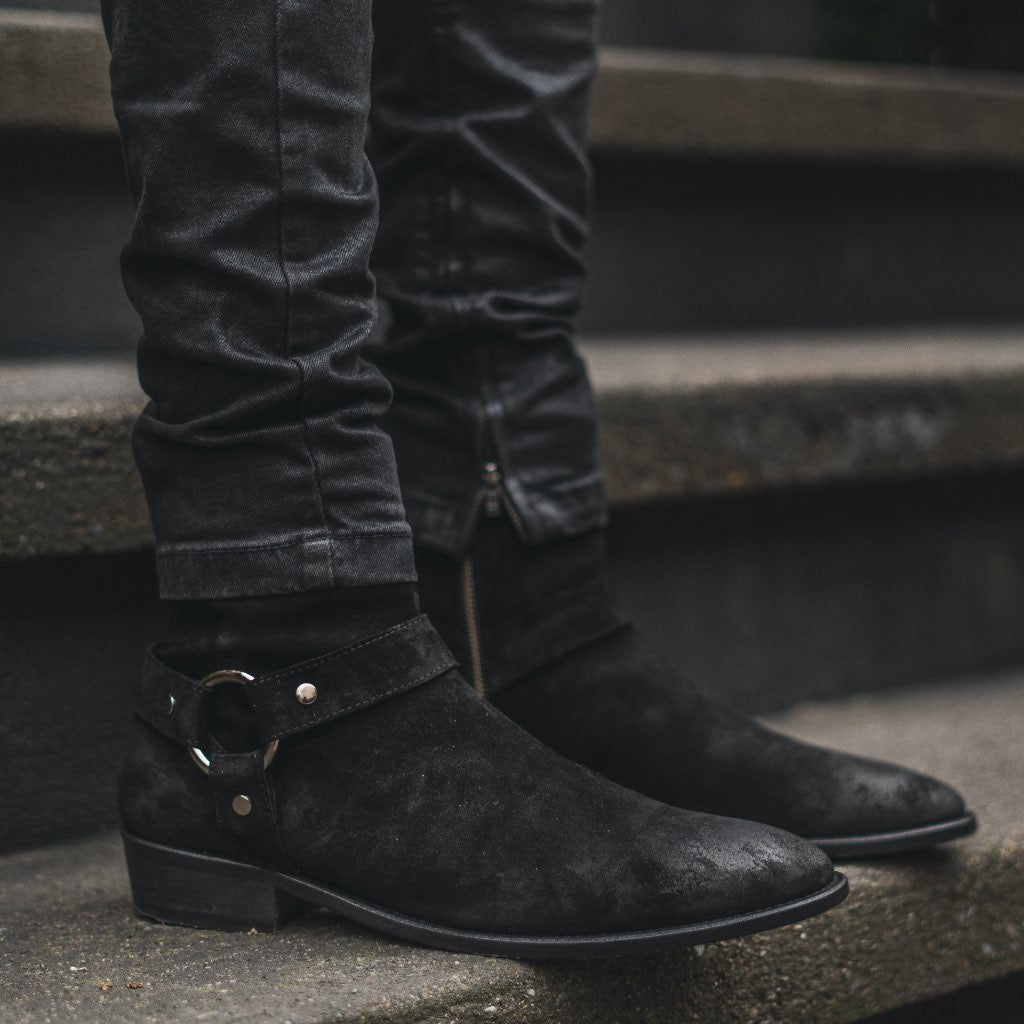 Harness | Black Suede