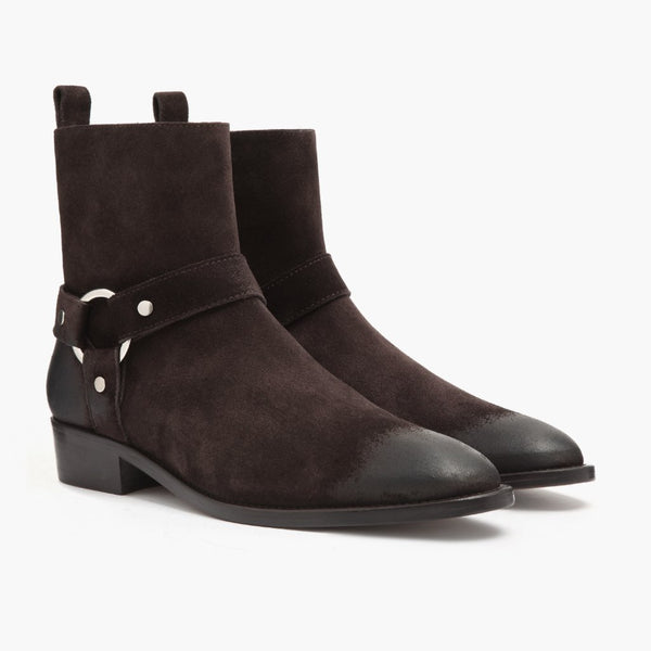 Harness | Dark Brown Suede