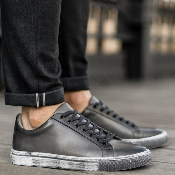 Premier Low Top | Distressed Grey