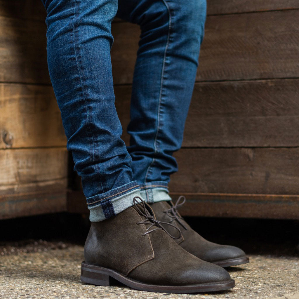 Dark Olive Suede Scout Chukka Boot