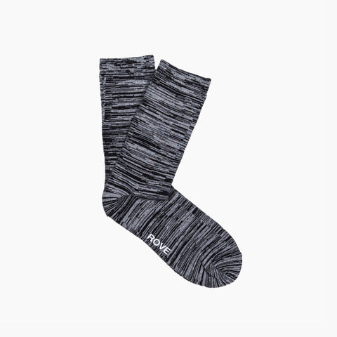 Rush & Rove Crew Socks | Jet Black