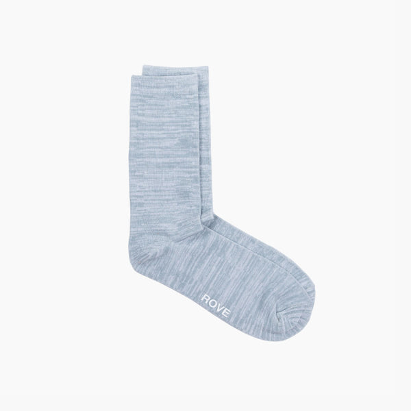 Rush & Rove Crew Socks | Light Grey