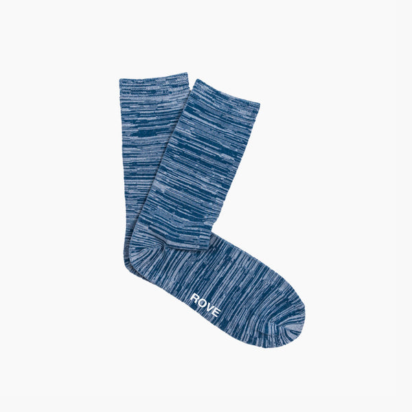 Rush & Rove Crew Socks | Navy