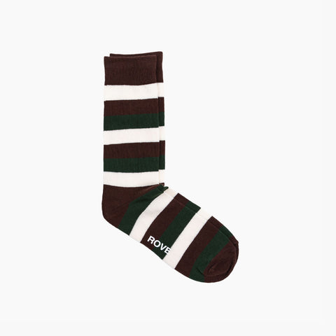 Rush & Rove Crew Socks | Brown + Olive