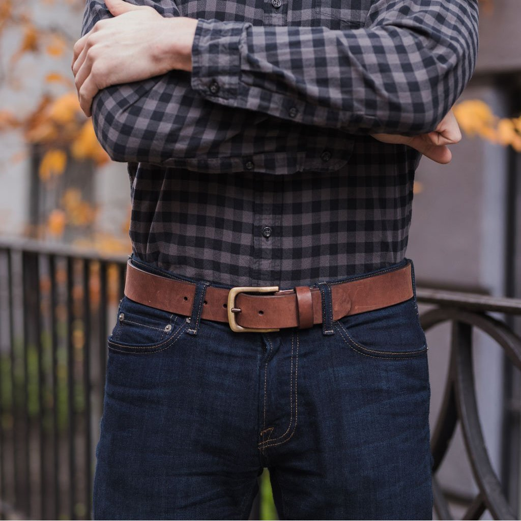 Men's Heritage Leather Belt | Terracotta