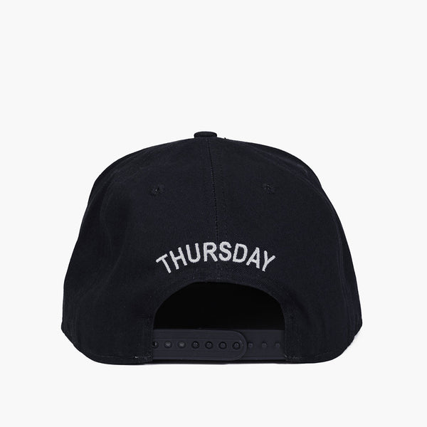 Cotton Snapback Hat | Black